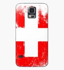 Flagge der Schweiz Hülle & Klebefolie für Samsung Galaxy