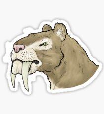 Smilodon fatalis Portrait Sticker