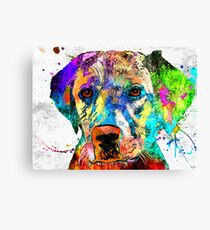 Labrador Retriever Grunge Canvas Print