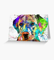 Labrador Retriever Grunge Greeting Card