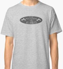 Camiseta clásica Más montañas menos pendejos