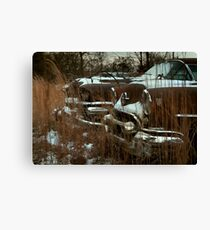 Abandoned 1955 Oldsmobile 88 Coupe & 1958 Buick Roadmaster Canvas Print