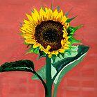 Homegrown Sunshine-My Sunflower by Anne Gitto