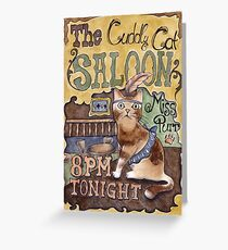 Cat Saloon Greeting Card