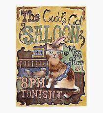 Cat Saloon Photographic Print