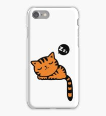 Cute sleeping kitten doodle  iPhone Case/Skin