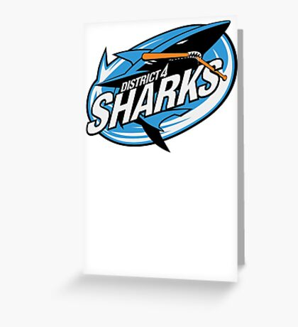 District 4 Sharks Greeting Card