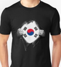 Proud South Korean. South Korea Flag Unisex T-Shirt