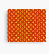 Orange Jack O Lantern Pattern Canvas Print