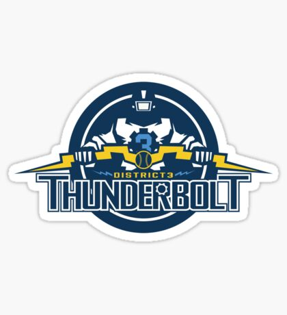 District 3 Thunderbolt Sticker