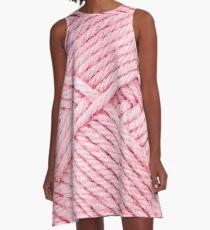 Pink Yarn A-Line Dress