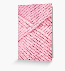 Pink Yarn Greeting Card