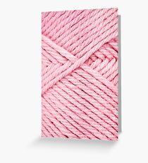 Pink Yarn Greeting Card