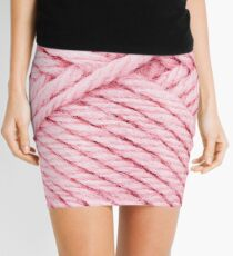 Pink Yarn Mini Skirt
