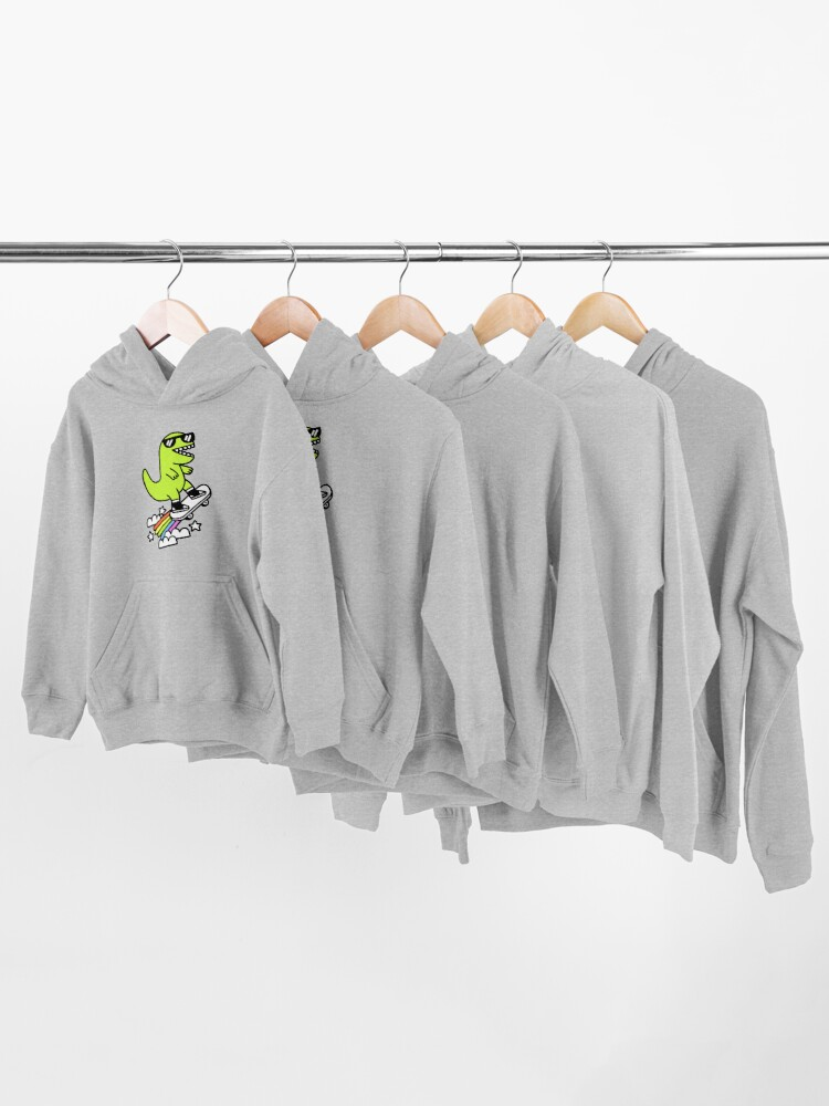 Alternate view of Rad Rex Kids Pullover Hoodie