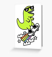Rad Rex Greeting Card