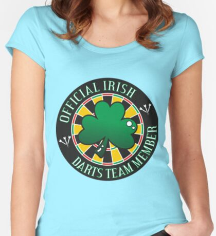 Official Irish Darts Team Member Women's Fitted Scoop T-Shirt