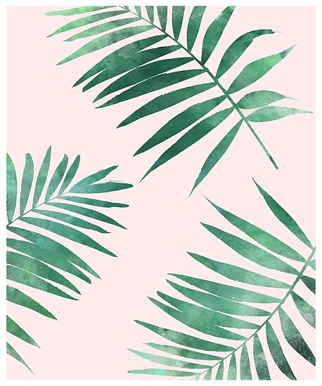 Tropical Leaves Pattern Print Posters By Leah Biernacki Redbubble Unique Tropical Leaves Pattern