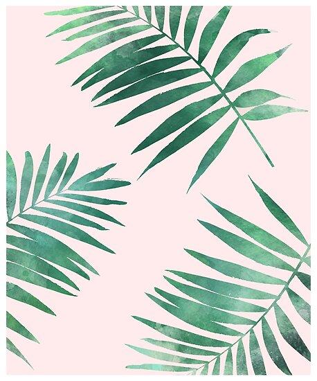 Tropischer Blattmusterdruck von Leah Biernacki