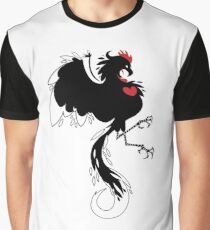 Love Cock Black Graphic T-Shirt