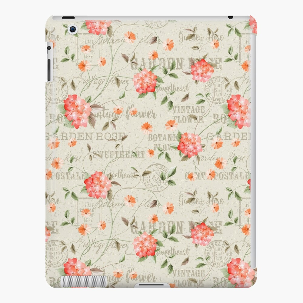 Jardín de moda floral vintage Funda y vinilo para iPad