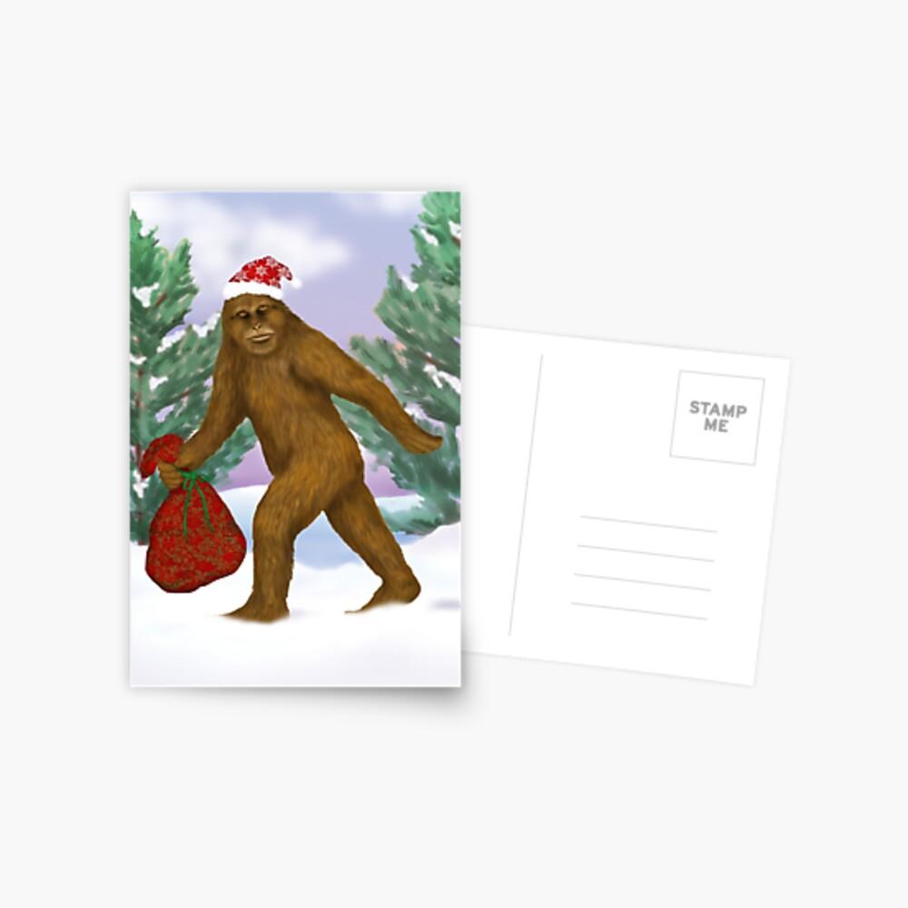 Bigfoot Weihnachtsmann Postkarte