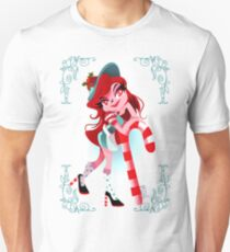 Vintage Candy Cane Girl T-Shirt