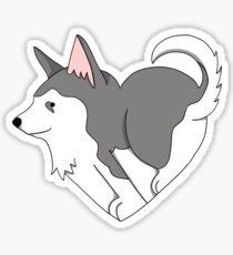 Heart Husky Sticker