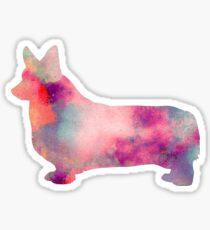 Watercolor Corgi Sticker