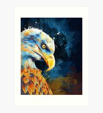 Eagle Eye - eagle illustration, digital painting Art Print