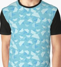 Hand-Drawn Clouds & Tornadoes (Sky Blue) Graphic T-Shirt