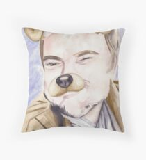 Mark Sheppard, watercolor painting Throw Pillow