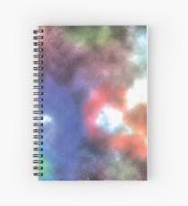 Galaxy nebula colorful with shining stars Spiral Notebook