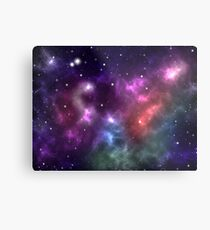 Colorful galaxy nebula shining stars and gas clouds Metal Print