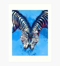 Friendship - Zebra Portraits Art Print