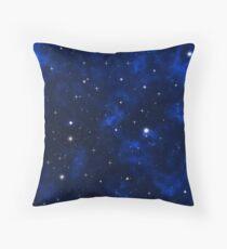 Galaxy nebula shining stars and gas clouds Throw Pillow