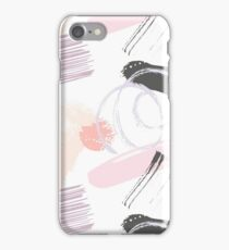 Pale Rose Abstract Brush iPhone Case/Skin