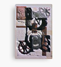 Cogs and Gears Print Canvas Print