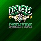 Irish Darts Champion by mydartshirts