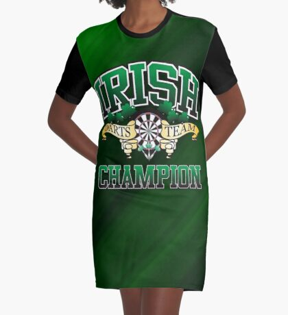 Irish Darts Champion Graphic T-Shirt Dress