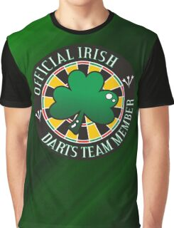Official Irish Darts Team Member Graphic T-Shirt
