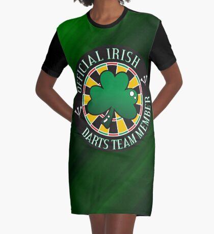 Official Irish Darts Team Member Graphic T-Shirt Dress