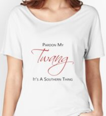 Pardon My Twang On White Women's Relaxed Fit T-Shirt