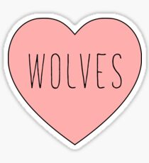 I Love Wolves Heart | Wolf Print Sticker