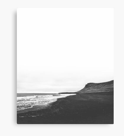 Iceland, Black and White Canvas Print
