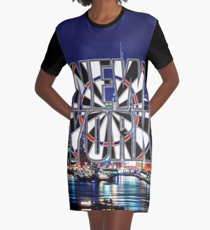 Darts New York Graphic T-Shirt Dress