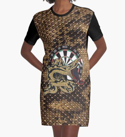 Intimidarters Snakeskin Darts Shirt Graphic T-Shirt Dress