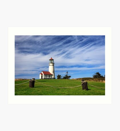 Cape Blanco Lighthouse Above The Rope Art Print