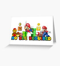 Mario mashup Greeting Card