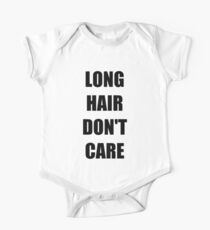 Long Hair Don't Care T-Shirts Baby Body Kurzarm